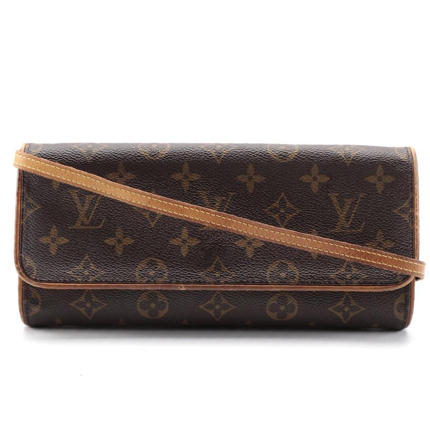Louis Vuitton Pochette Twin GM Crossbody Bag in Monogram Canvas