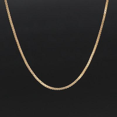 Italian 14K Fancy Link Necklace
