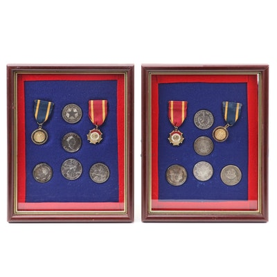 Honorable Order of Kentucky Colonels Badges with Silver Coin Display