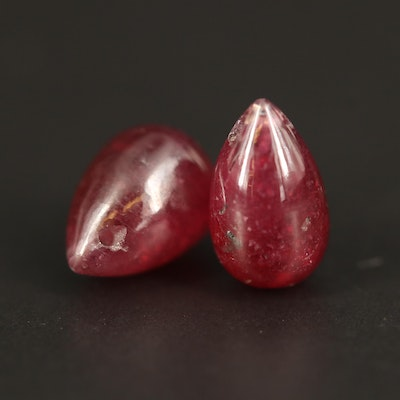 Loose Drop Sahped Corundum Beads