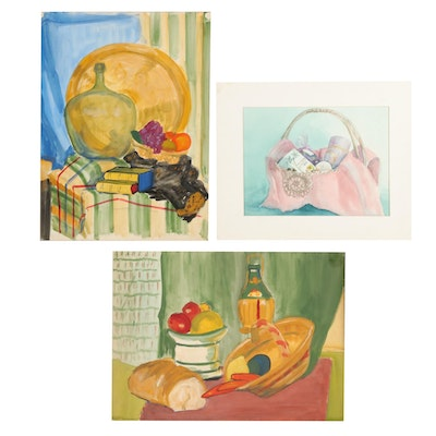 Watercolor and Mixed Media Still Life Paintings