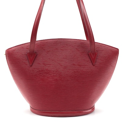 Louis Vuitton Saint Jacques GM Tote in Castilian Red Epi and Smooth Leather