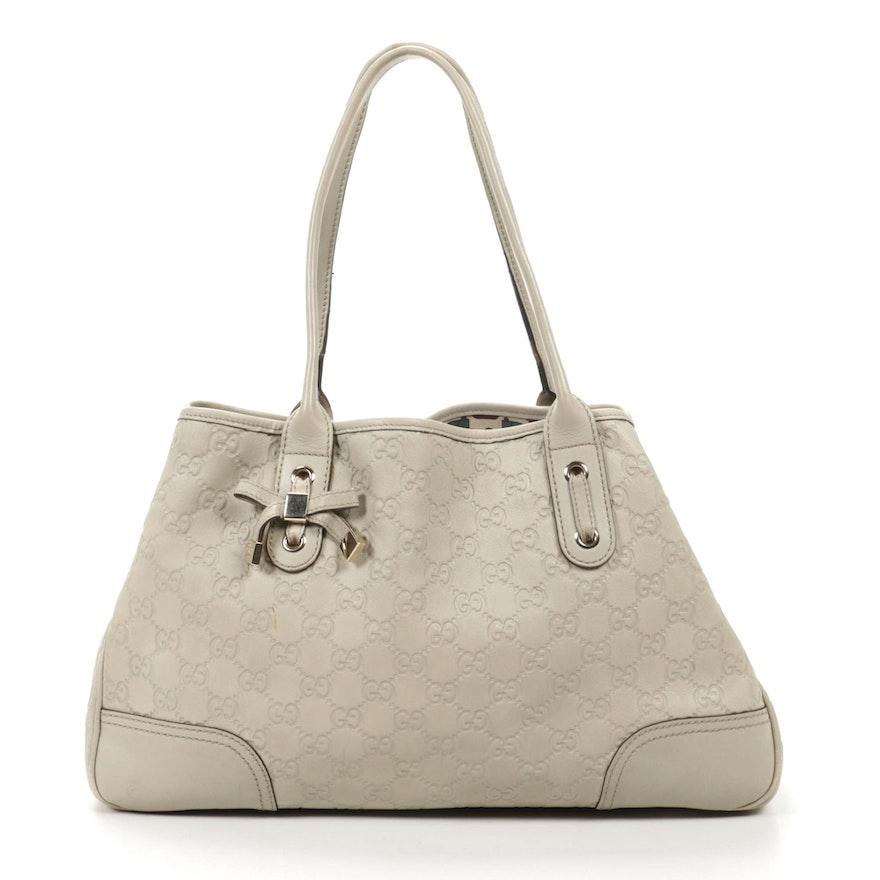 Gucci Princy Tote in Beige Guccissima Leather