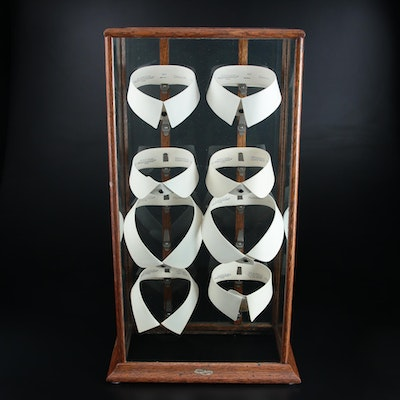 Cluett Peabody & Co. Arrow Detachable Collars in Illinois Showcase Display Case
