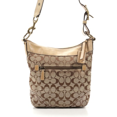 Coach Signature Canvas and Leather Crossbody Bag