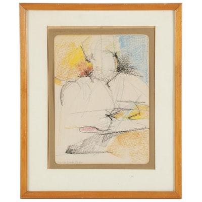 Martha Nessler Hayden Abstract Pastel Drawing