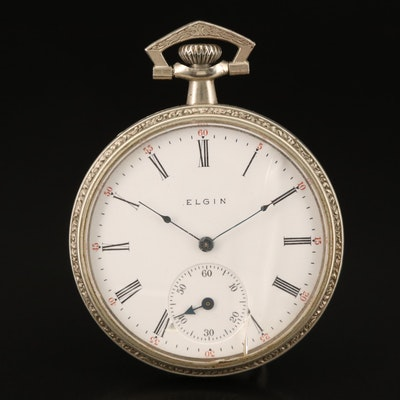 1915 Elgin Silveroid Pocket Watch