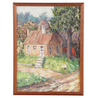 Theodore Reamer Landscape Oil Painting of House
