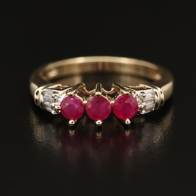 10K Ruby and Diamond Band