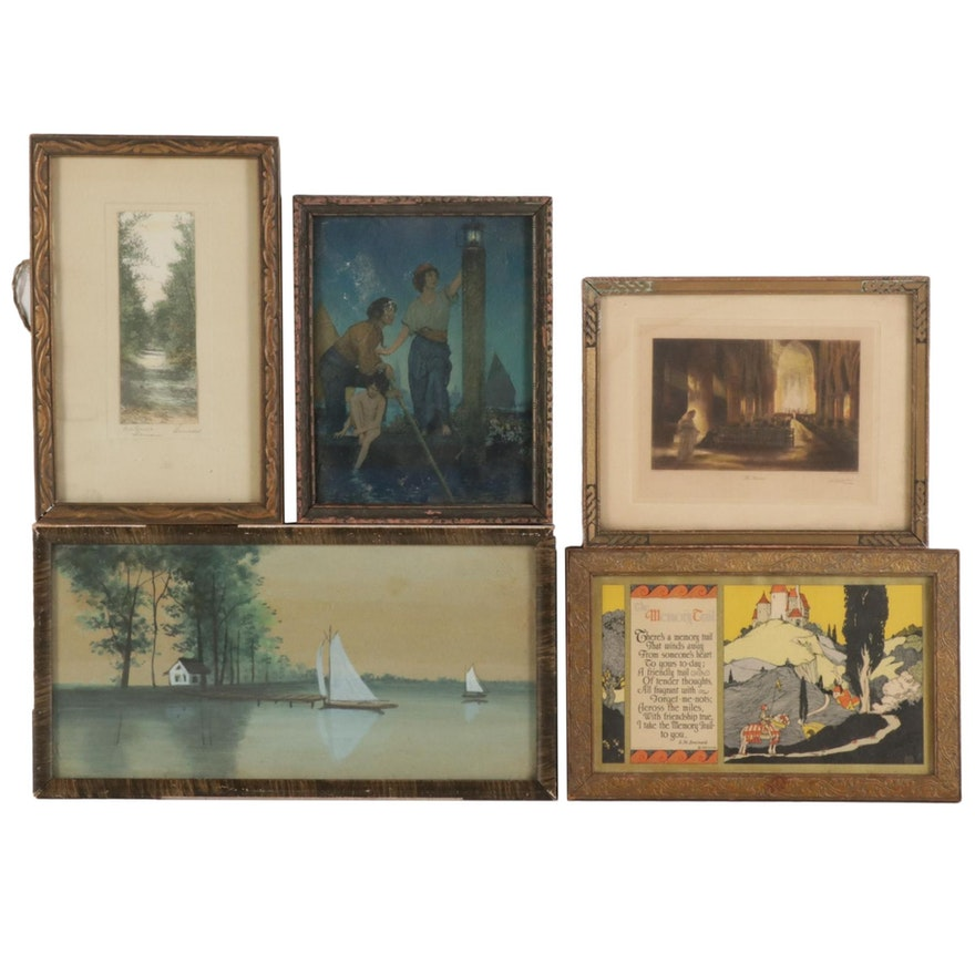 Watercolor Painting, Serigraph, Hand-Colored Lithograph and Photograph