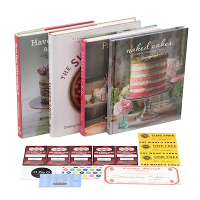 Dessert and Restaurant Gift Certificates with Baking Cookbooks