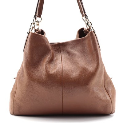 Coach Phoebe Hobo Bag in Brown Pebble Grain Leather