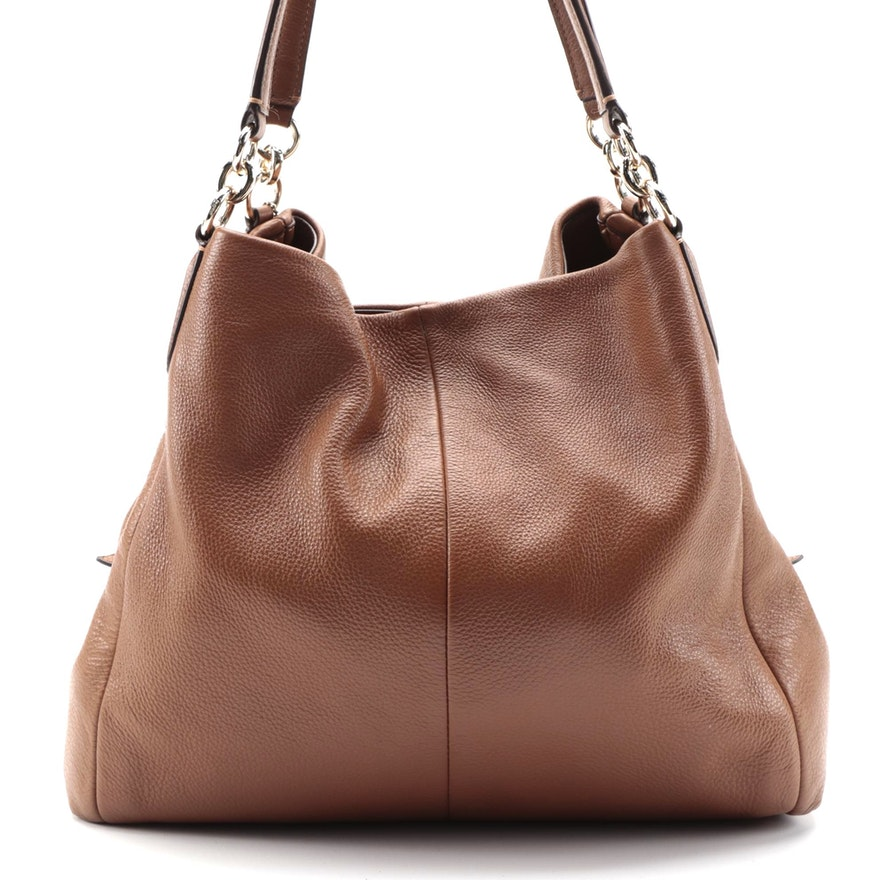 Coach Phoebe Hobo Bag in Brown Pebble Grain Leather