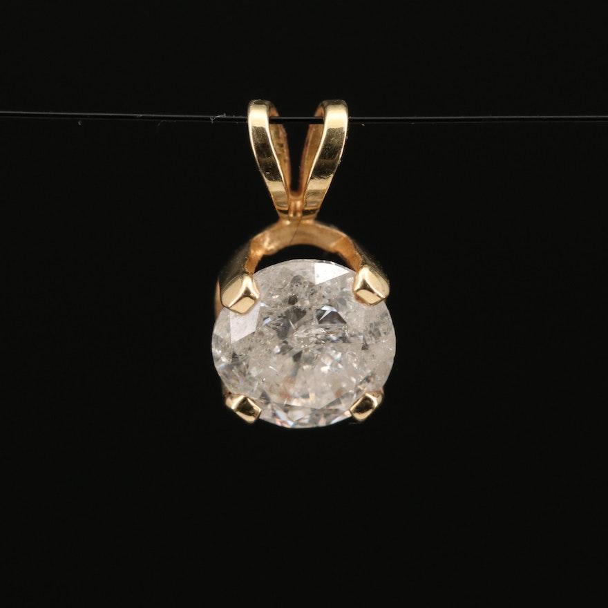 14K 1.01 CT Diamond Pendant
