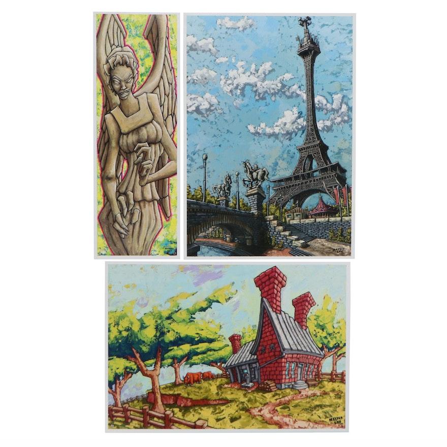 Pop Art Offset Lithographs after Mike Maydak, 21st Century