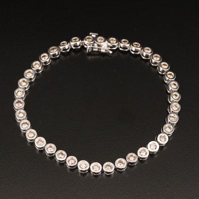 10K 3.04 CTW Diamond Bezel Bracelet