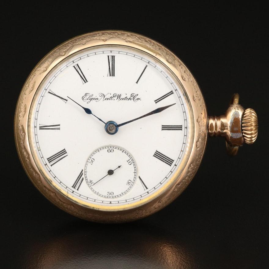 1895 Elgin Sidewinder Pocket Watch