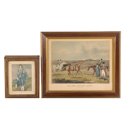 Offset Lithograph after Thomas Gainsborough and Giclée after Currier & Ives