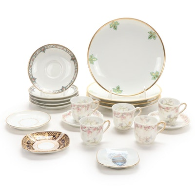 Haviland Limoges Demitasse Cups with Other Porcelain Tableware