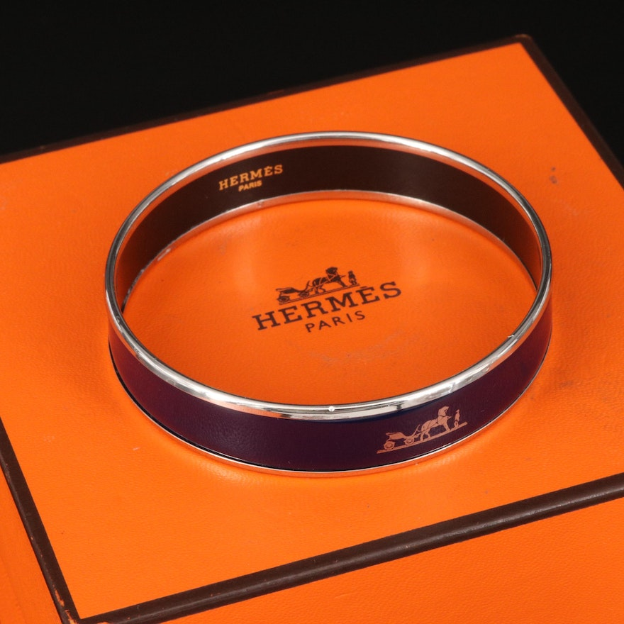 "Hermès ""Caleche"" Enamel Bangle"