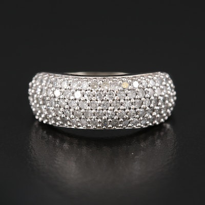 10K Diamond Multi-Row Ring