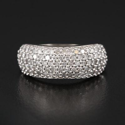 10K Diamond Multi-Row Ring