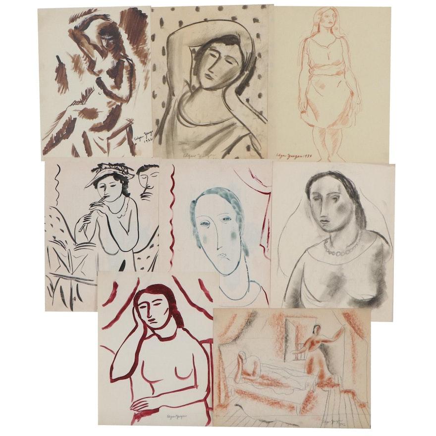 Edgar Yaeger Figural Drawings and Paintings, 1926 - 1942