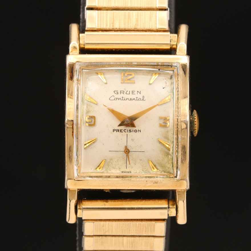 Gruen Continental Stem Wind Wristwatch