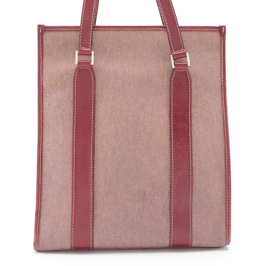 Burberry London Blue Label Red Canvas and Leather