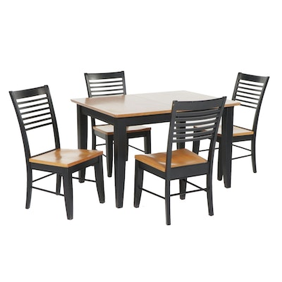 Cochrane Furniture Parcel Painted Wood Dining Table and Chairs