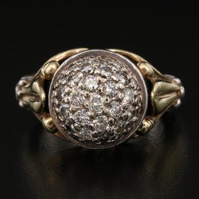 Caviar by Lagos 18K and Sterling Silver 1.04 CTW Diamond Pavé Ring