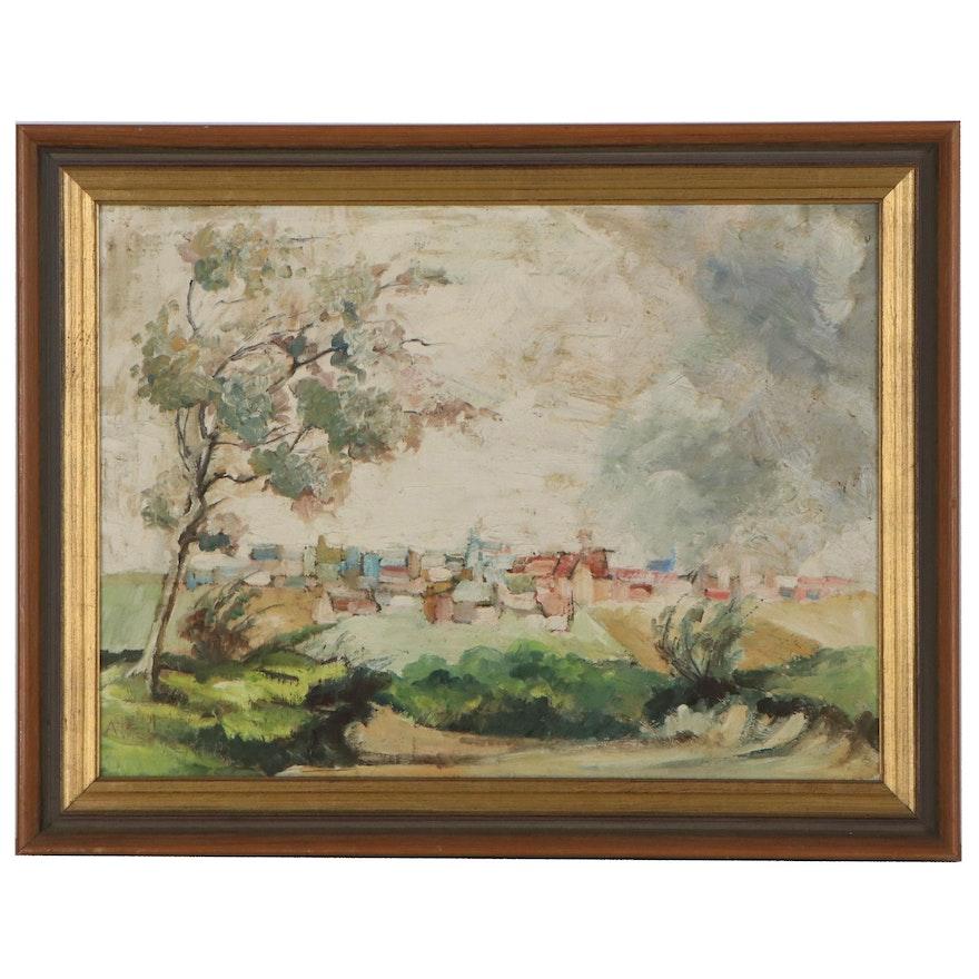 Antonius Raemaekers Landscape Oil Painting, Mid-20th Century