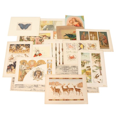 Chromolithographs, Hand-Colored Lithographs, and Serigraphs, Early 20th Century