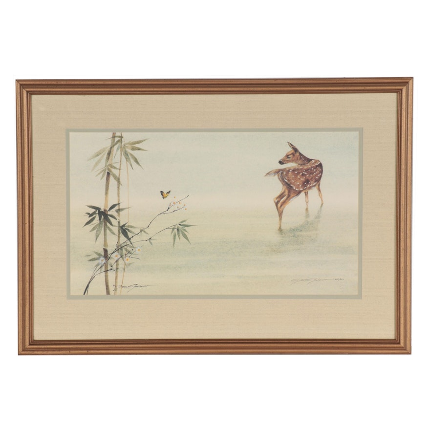 Gene Galasso Offset Lithograph of Fawn, Late 20th Century