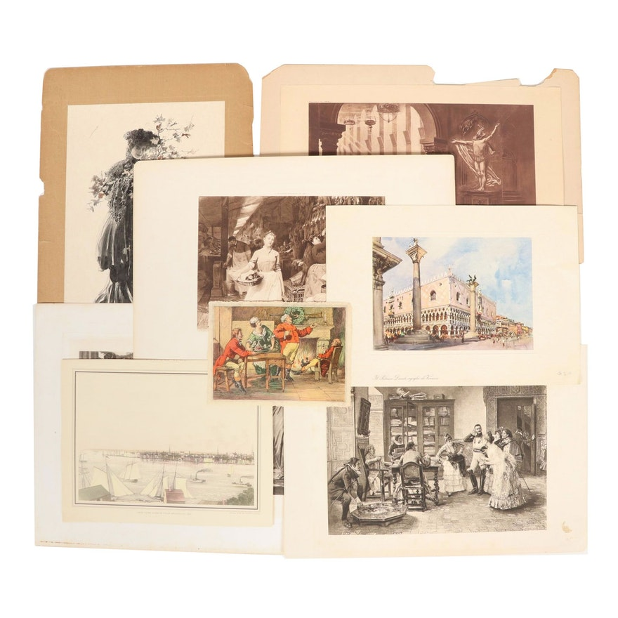 Offset Lithographs, Photogravures, and Hand-Colored Halftones