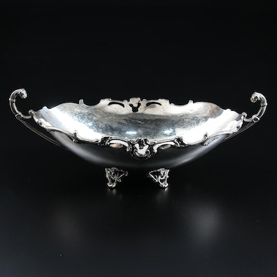 Sterling Silver Footed Centerpiece Bowl with Lion Head Handles