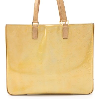 Louis Vuitton Columbus Tote Bag in Mango Monogram Vernis Leather