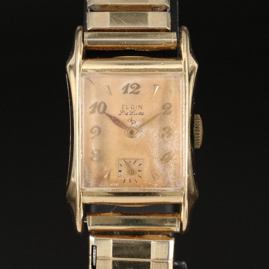 Vintage Elgin DeLuxe Stem Wind Wristwatch