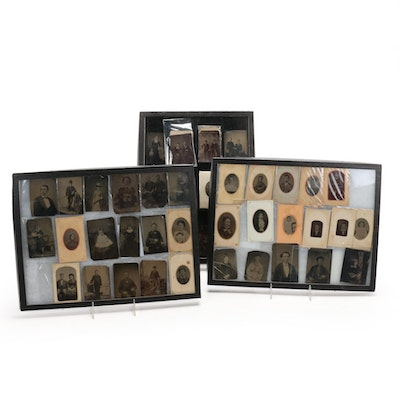 Tintype Portrait Photographs, Late 19th Century