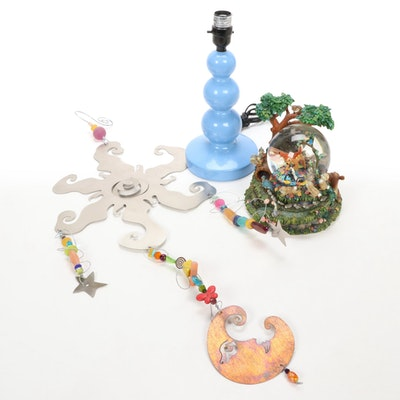 "Bambi ""Little April Shower"" Musical Snow Globe, Whimsical Wall Hanging, and Lamp"