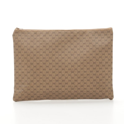 Gucci Microguccissima Coated Canvas Pouch