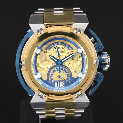 "Invicta Reserve ""X-Wing"" Chronograph Two-Tone Quartz Wristwatch"