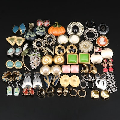 Clip Earrings, Brooches, Pins and Shoe Clips Including Robert Lee Morris SOHO