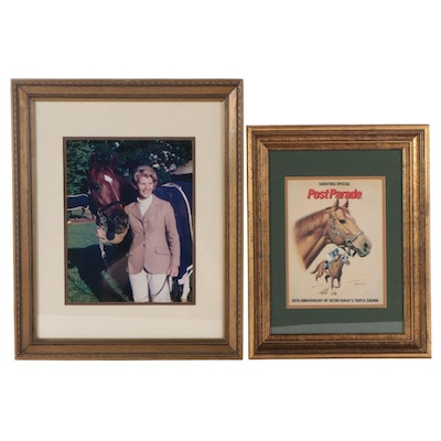 Ray Woolfe Signed Secretariat Photo, 1973, Penny Tweedy Signed Poster, 1992