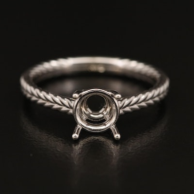 14K Solitaire Ring Mount