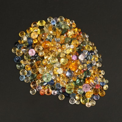 Loose 37.07 CTW Round Faceted Sapphires