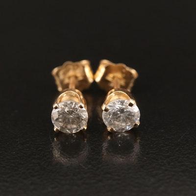 14K 0.81 CTW Diamond Stud Earrings