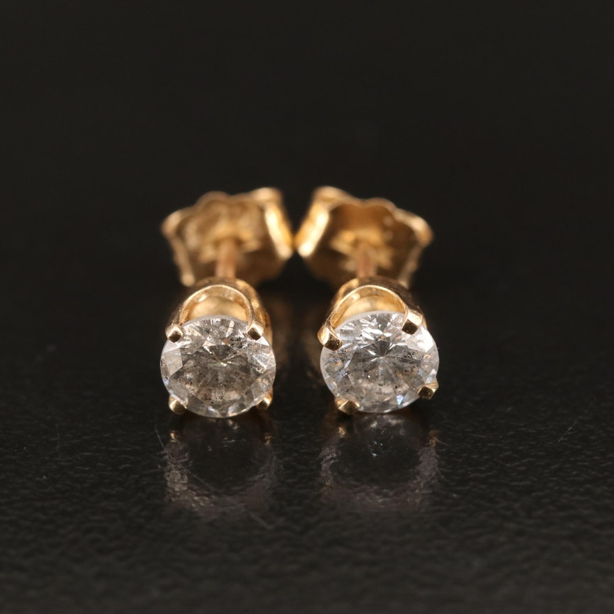 14K 0.81 CTW Diamond Stud Earrings