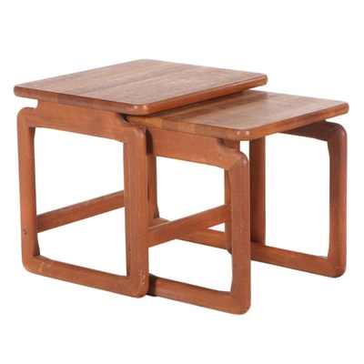 Danish Modern Teak Nesting Tables, Mid to Late 20th Century