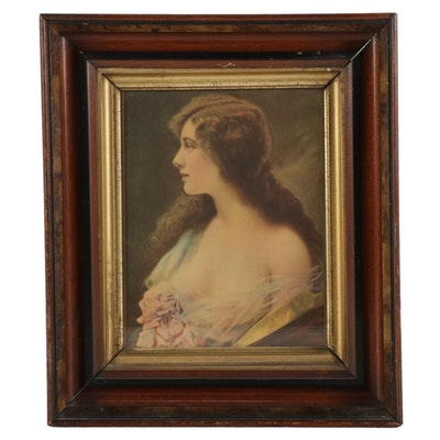 Offset Lithograph of Woman's Portrait